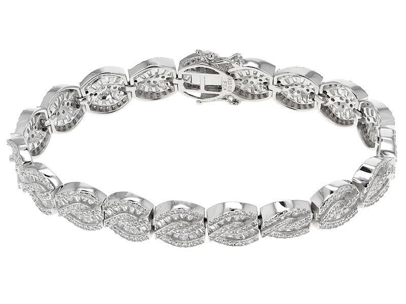 Bella Luce R 13 76ctw Rhodium Over Sterling Silver Bracelet 7 55