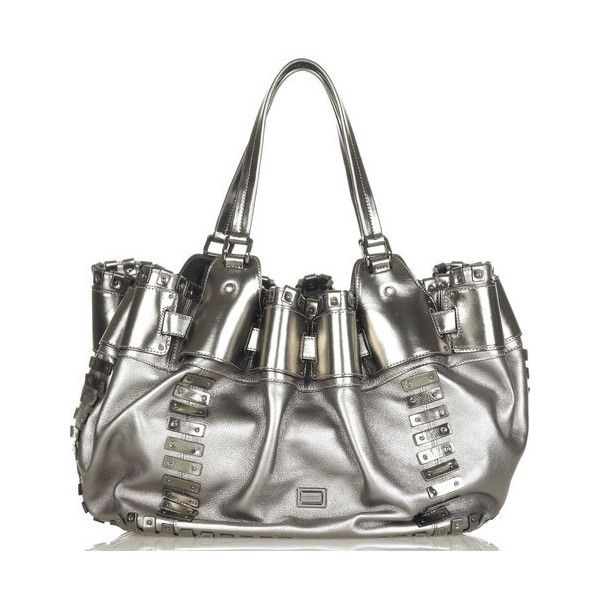Burberry Metallic Leather Shoulder Bag ❤ liked on Polyvore
