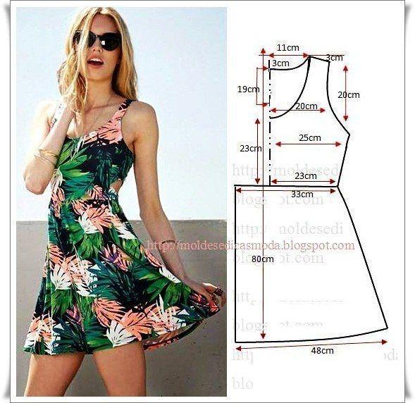 35 modelos y patrones de vestidos para dama | vestidos juveniles ...