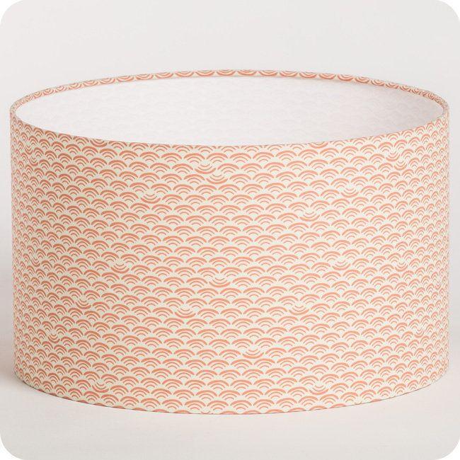 Abat-jour / suspension cylindrique tissu Shawa rose 55€