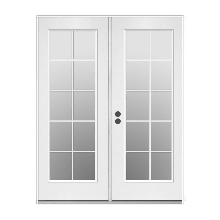 Reliabilt 59 5 In 10 Lite Glass Primer White Steel French Inswing Patio Door French Doors Patio Patio Doors French Doors Interior