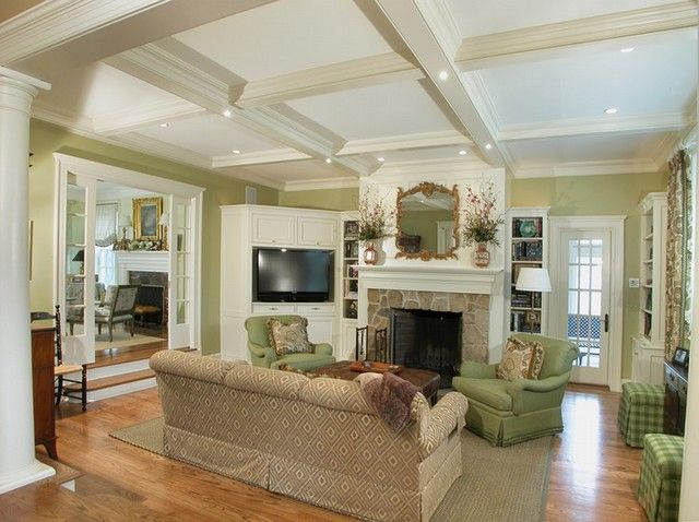 Glamorous Living Room Design With Stone Fireplace And White Tv Cabi Traditional Design Living Room Furniture Placement Living Room Modern Furniture Living Room