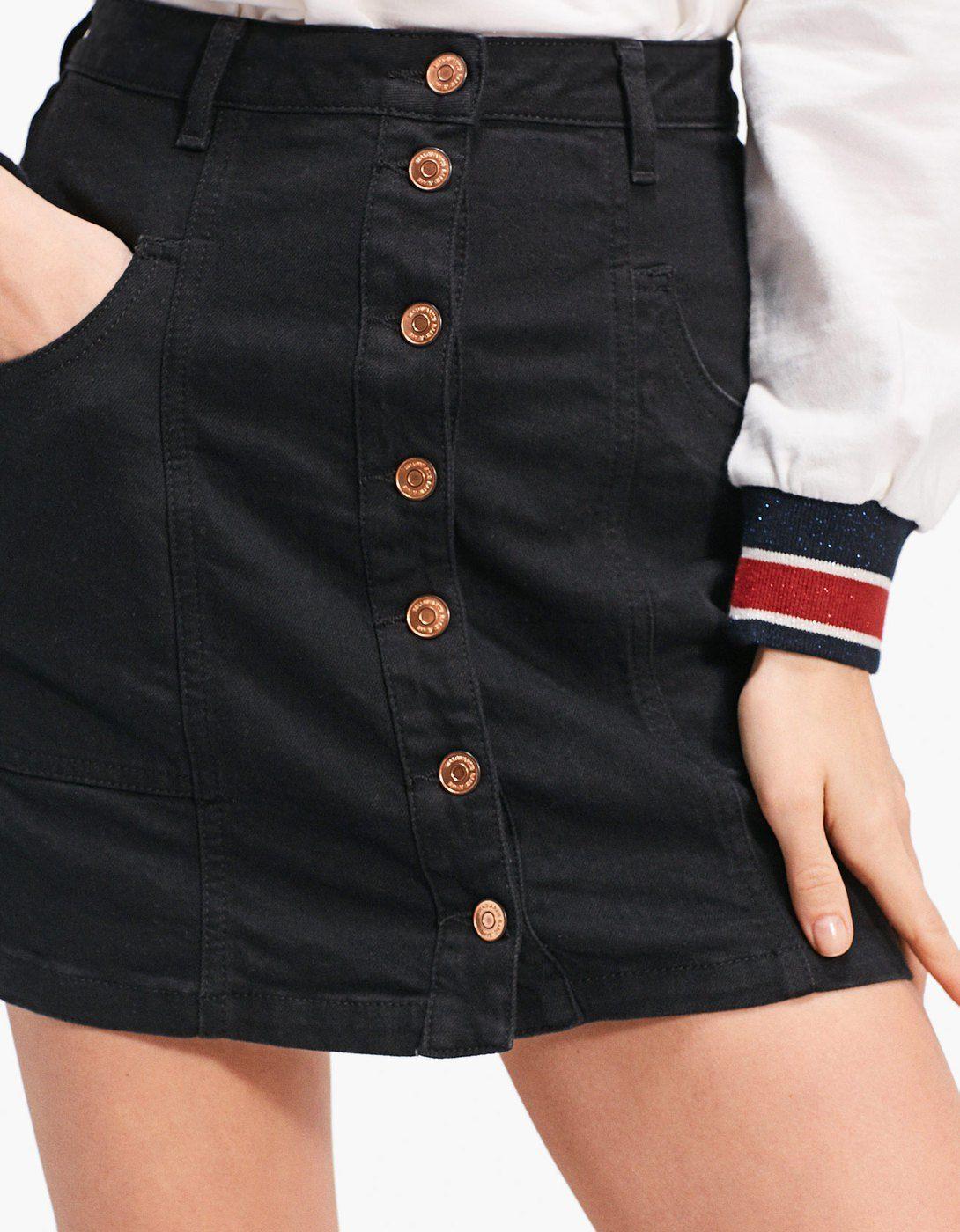 Τζιν φούστα με κουμπιά - Φουστες  78c407cc45b