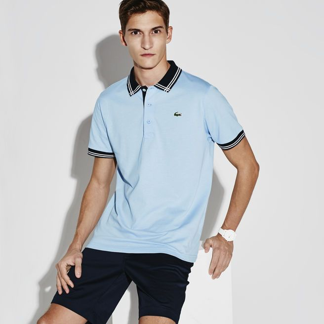 Men's SPORT Super-Light Knit Golf Polo with Piping