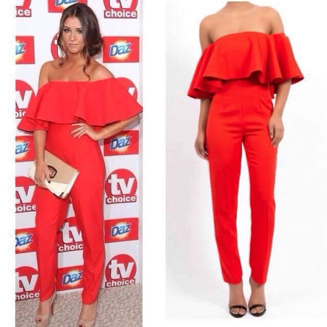 Red jumpsuits are so pretty!