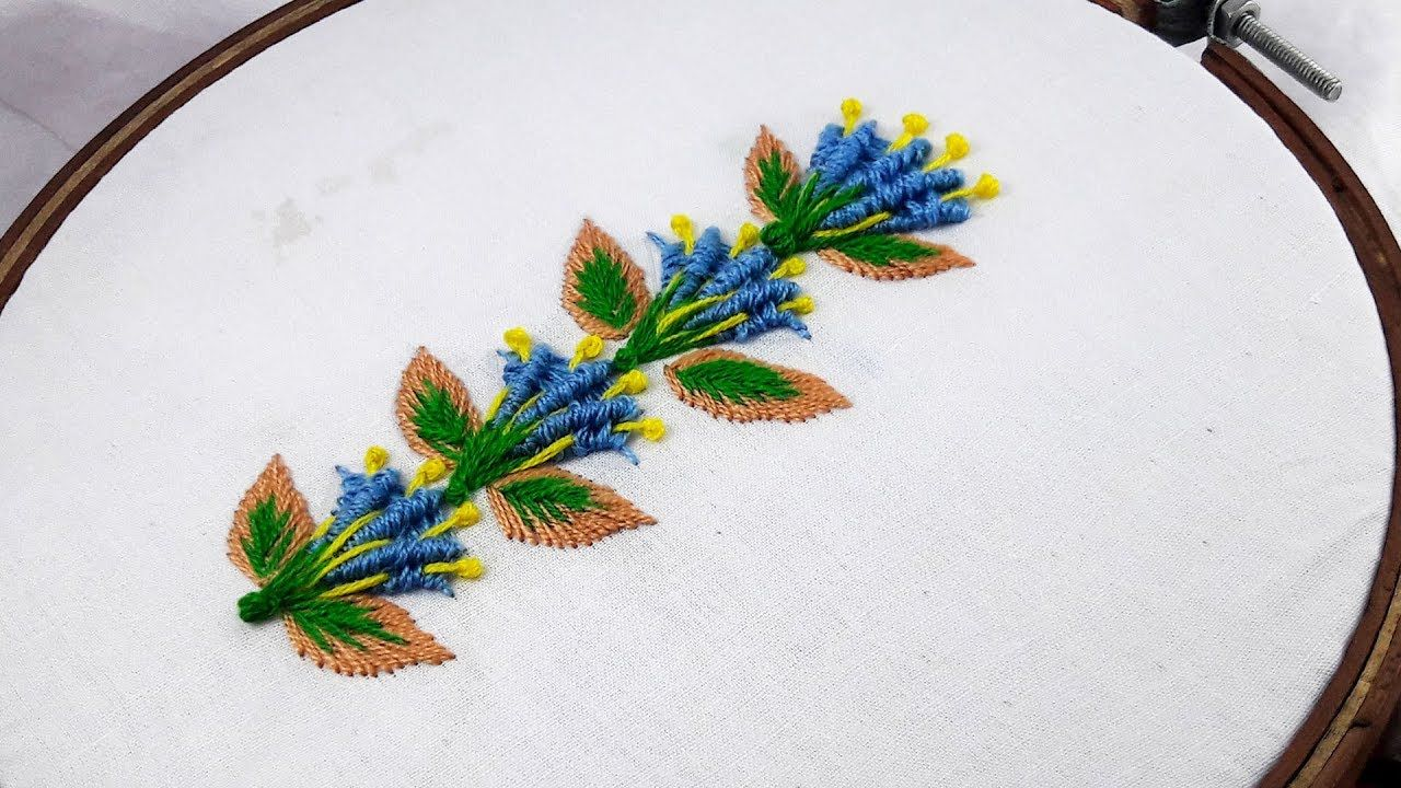 Hand Embroidery - Spider Web Stitch | Border design. | Aguja y hilos ...