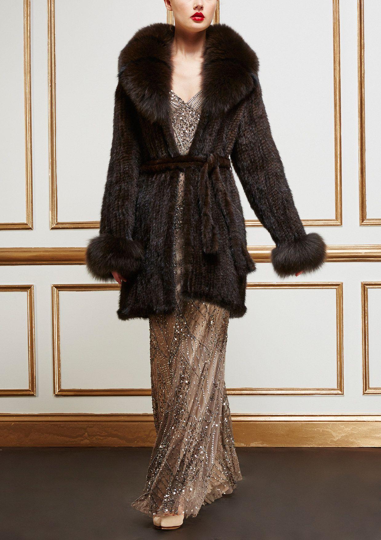 AVANTE Fur Jacket with Oversize Collar | ideel