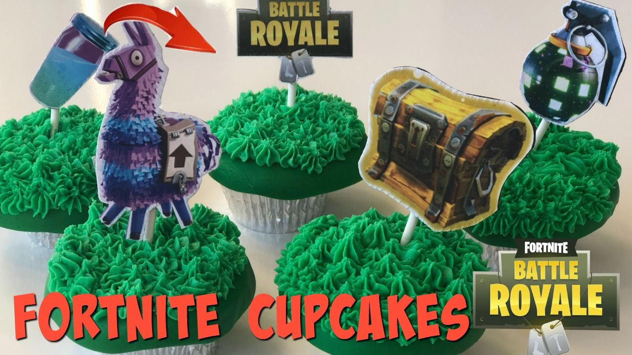 How To Make Easy Fortnite Cupcakes Birthday Party Desserts
