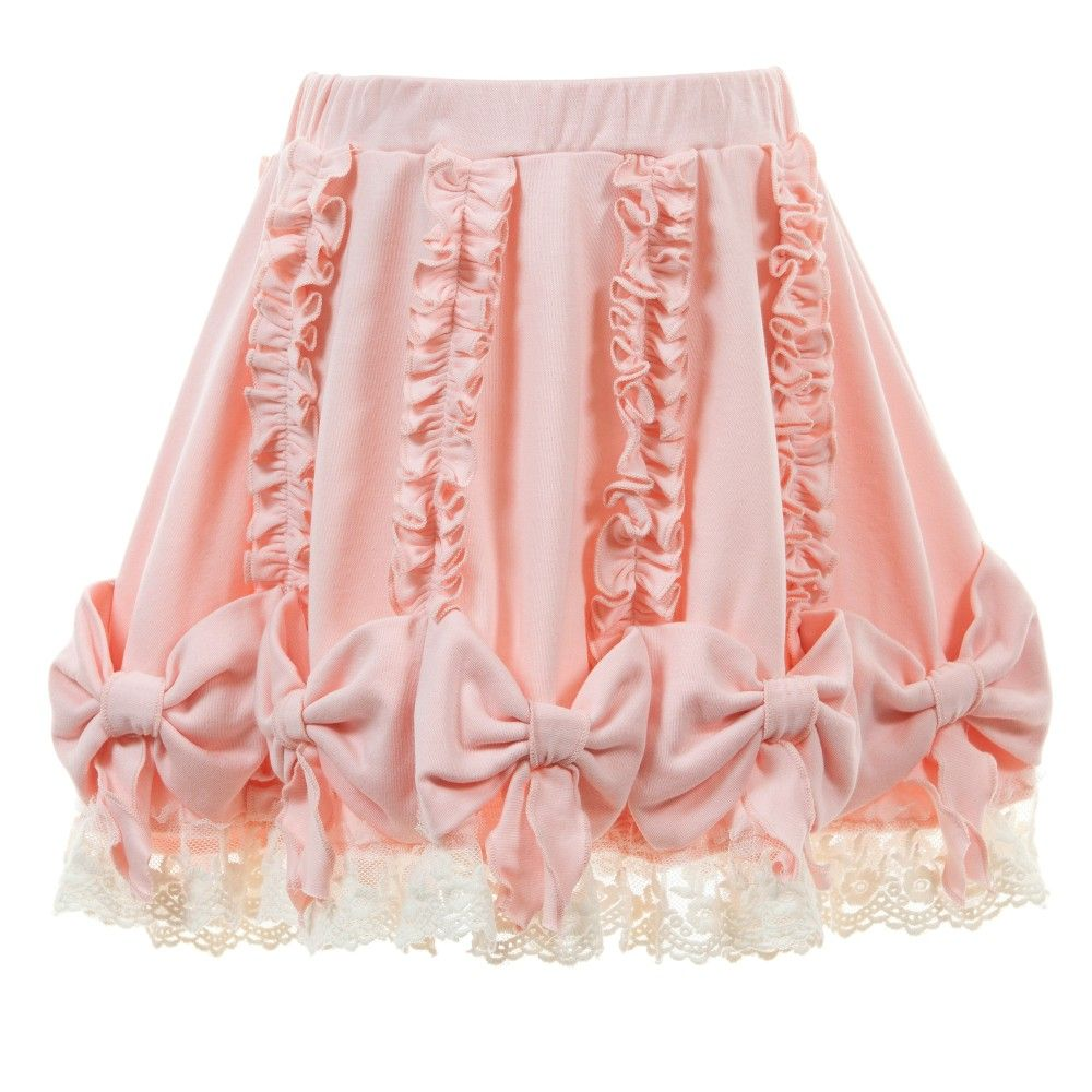 c411615487ae63 Lemon Loves Lime Pale Pink Pima Cotton 'Pretty Bow' Skirt at  Childrensalon.com