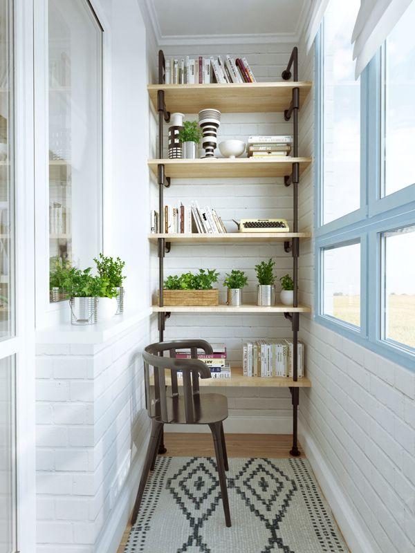 un appartement qui m lange le style scandinave industriel petits balcons balcons et am nagement. Black Bedroom Furniture Sets. Home Design Ideas