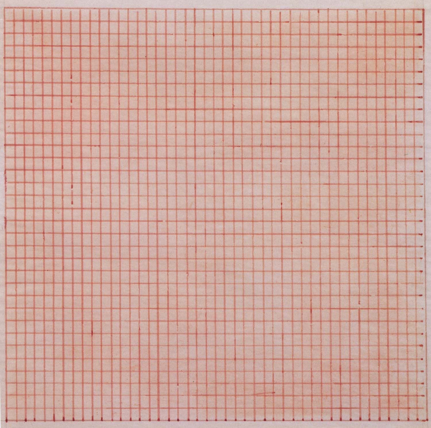 Agnes Martins Untitled 1963 gridded painting