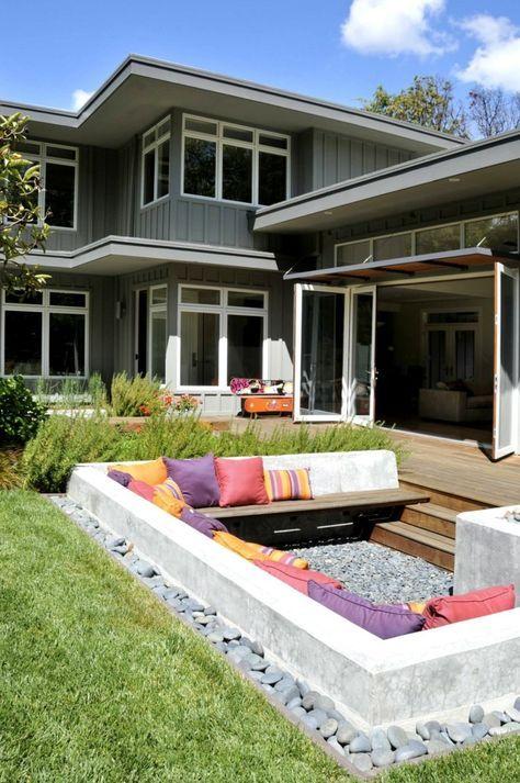 garten sitzecke 99 ideen wie sie ein outdoor wohnzimmer gestalten garten hinten pinterest. Black Bedroom Furniture Sets. Home Design Ideas