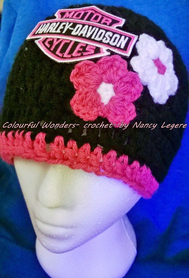 Harley Davidson Crochet Hat Made By Nancy Legere A Colourful