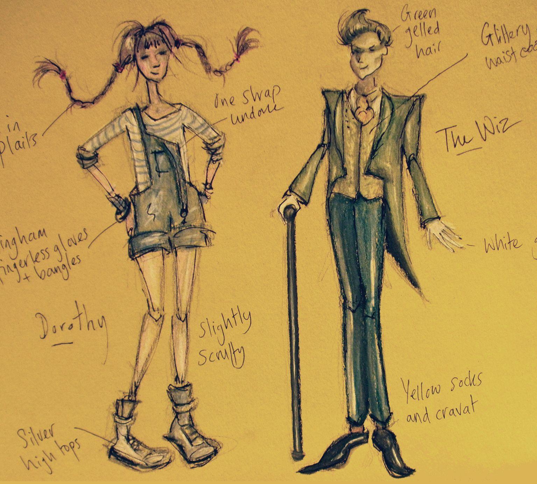 wiz munchkin costume design The Wiz costume design for