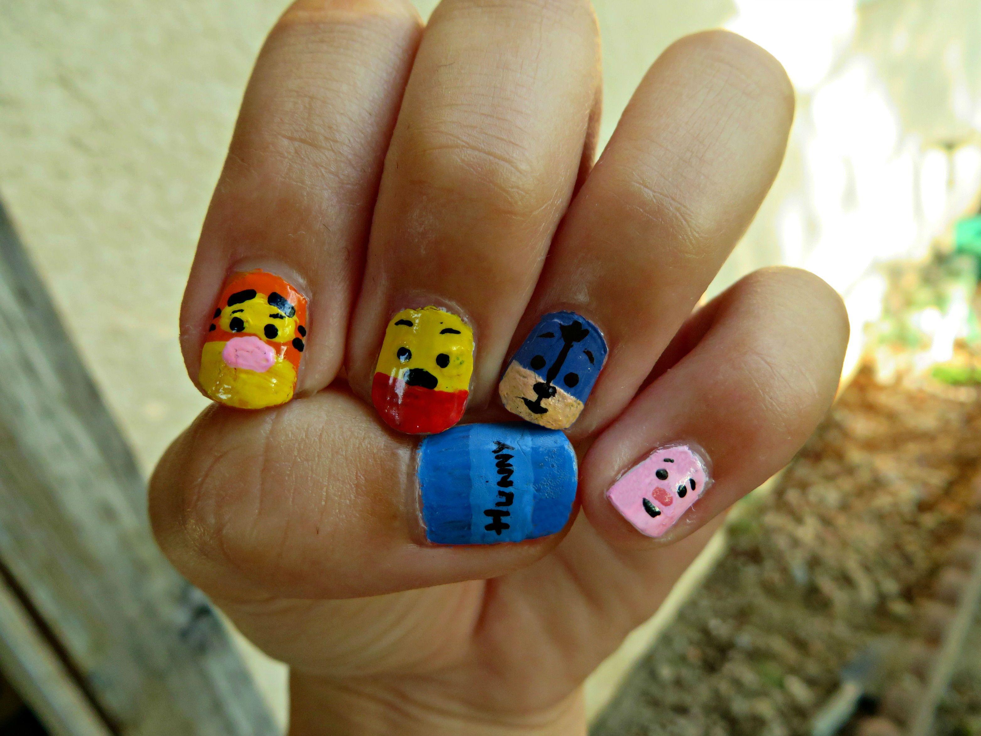 Winnie the Pooh Nails Thumb to Pinky: Honey Pot, Tigger ...