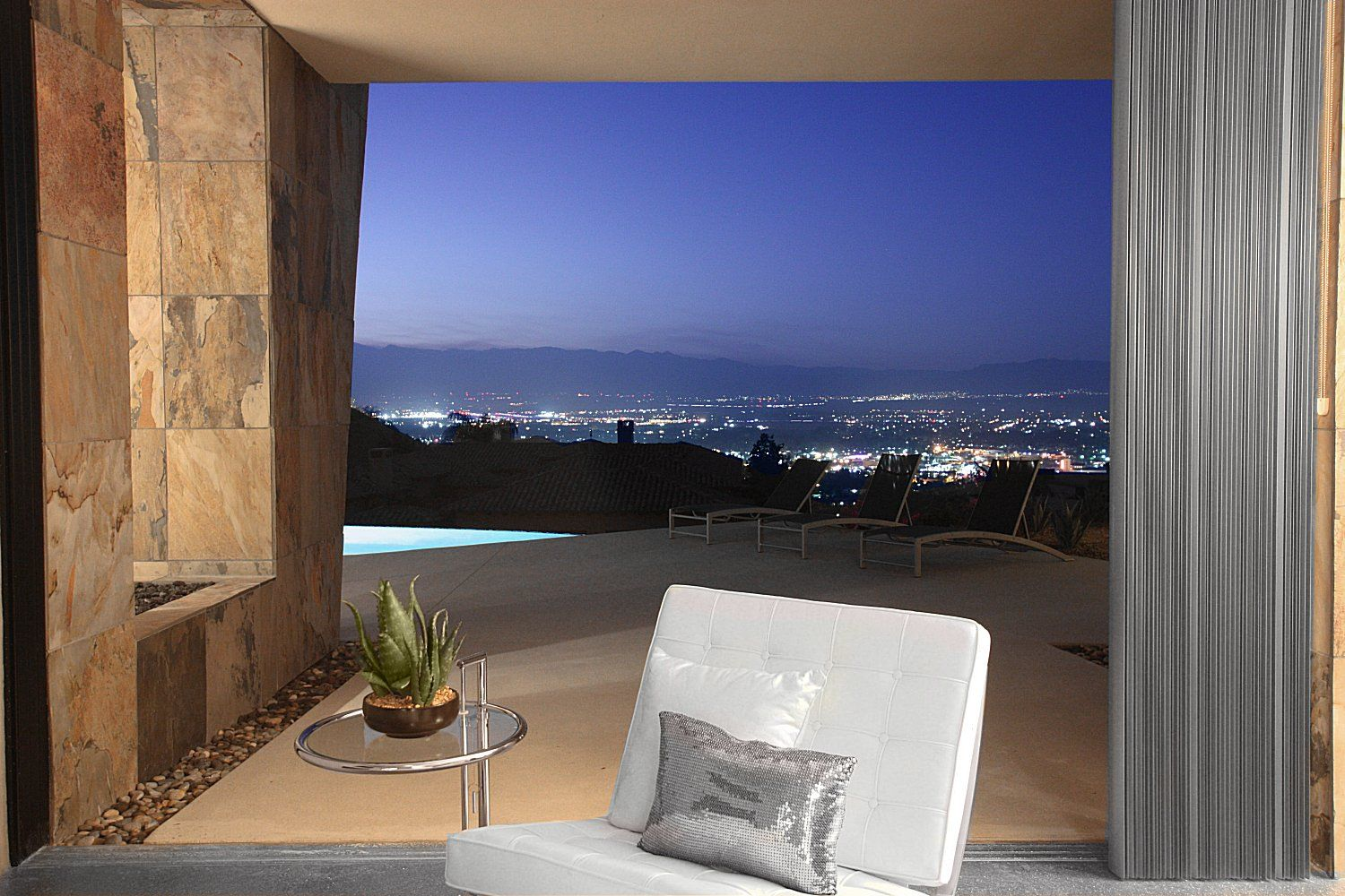 Patio Off Of Master Real Estate Houses Modern House Rancho Mirage California