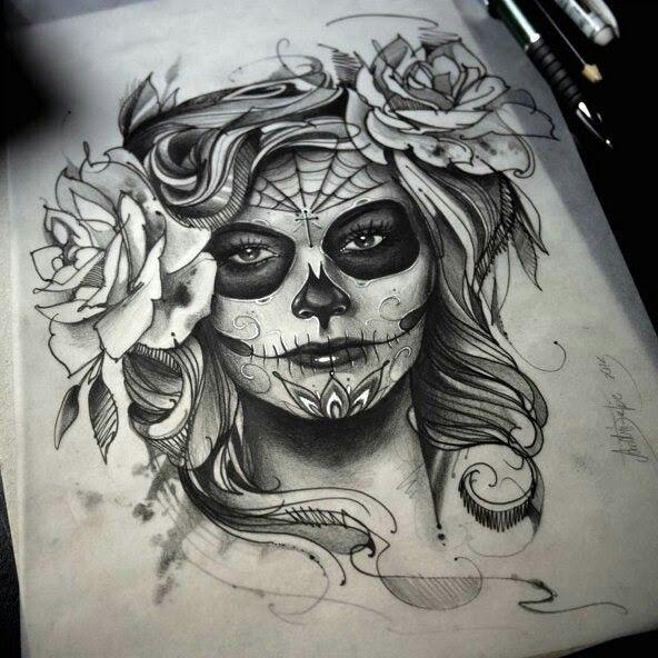 Dia De Los Muertos Mexican Temporary Tattoo