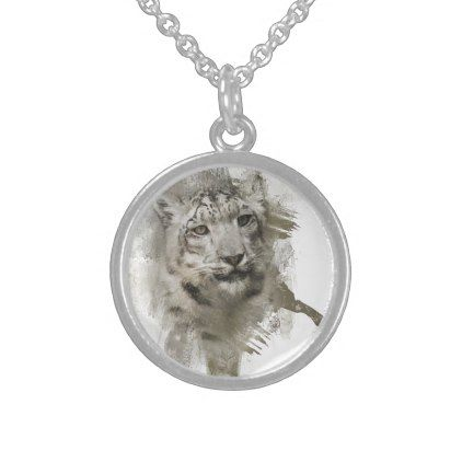 Expressions Snow Leopard Necklace - jewelry jewellery unique special diy gift present