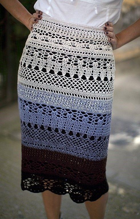 Crochet skirt | Faldas de ganchillo, Crochet ruso y Rusas