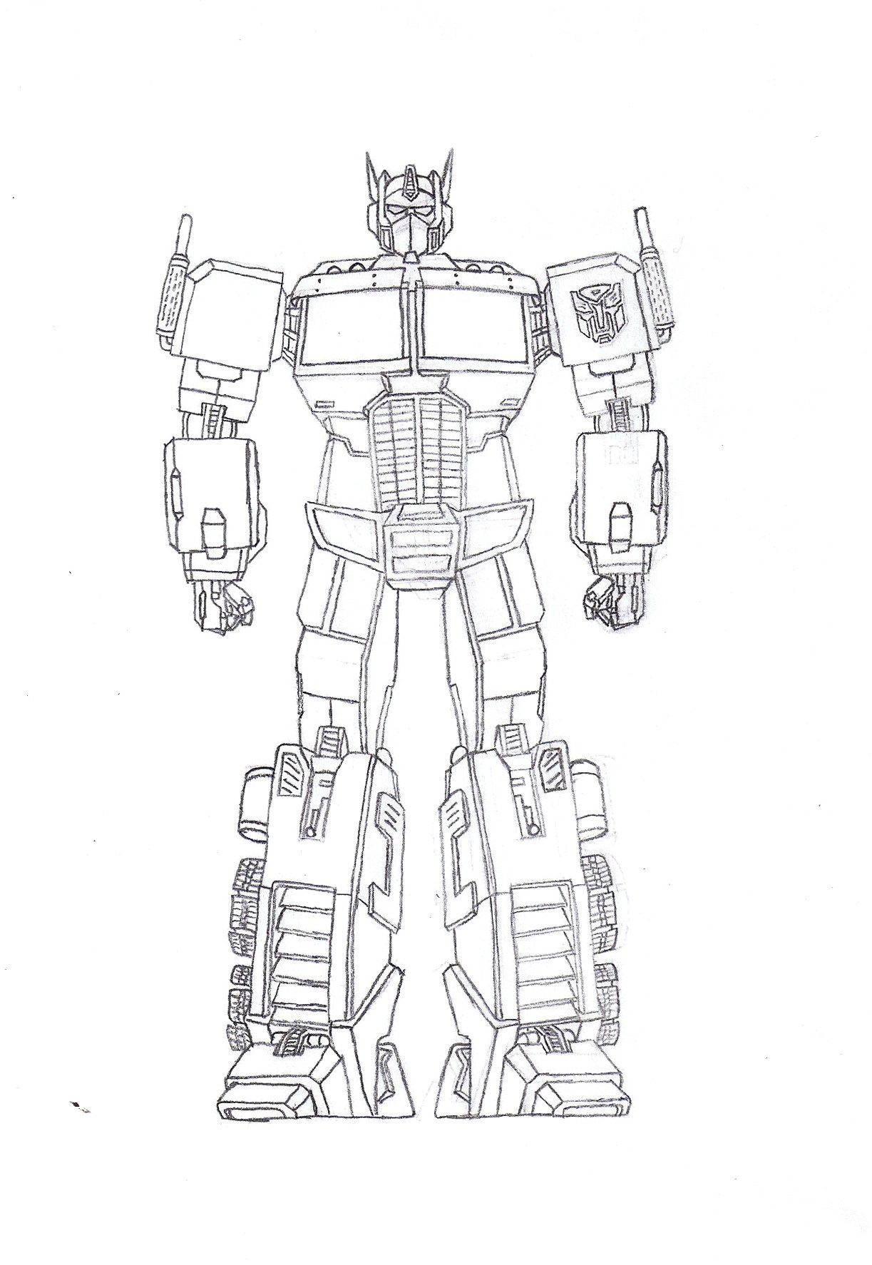 Color Optimus Prime Coloring Pages For Kids And For Adults