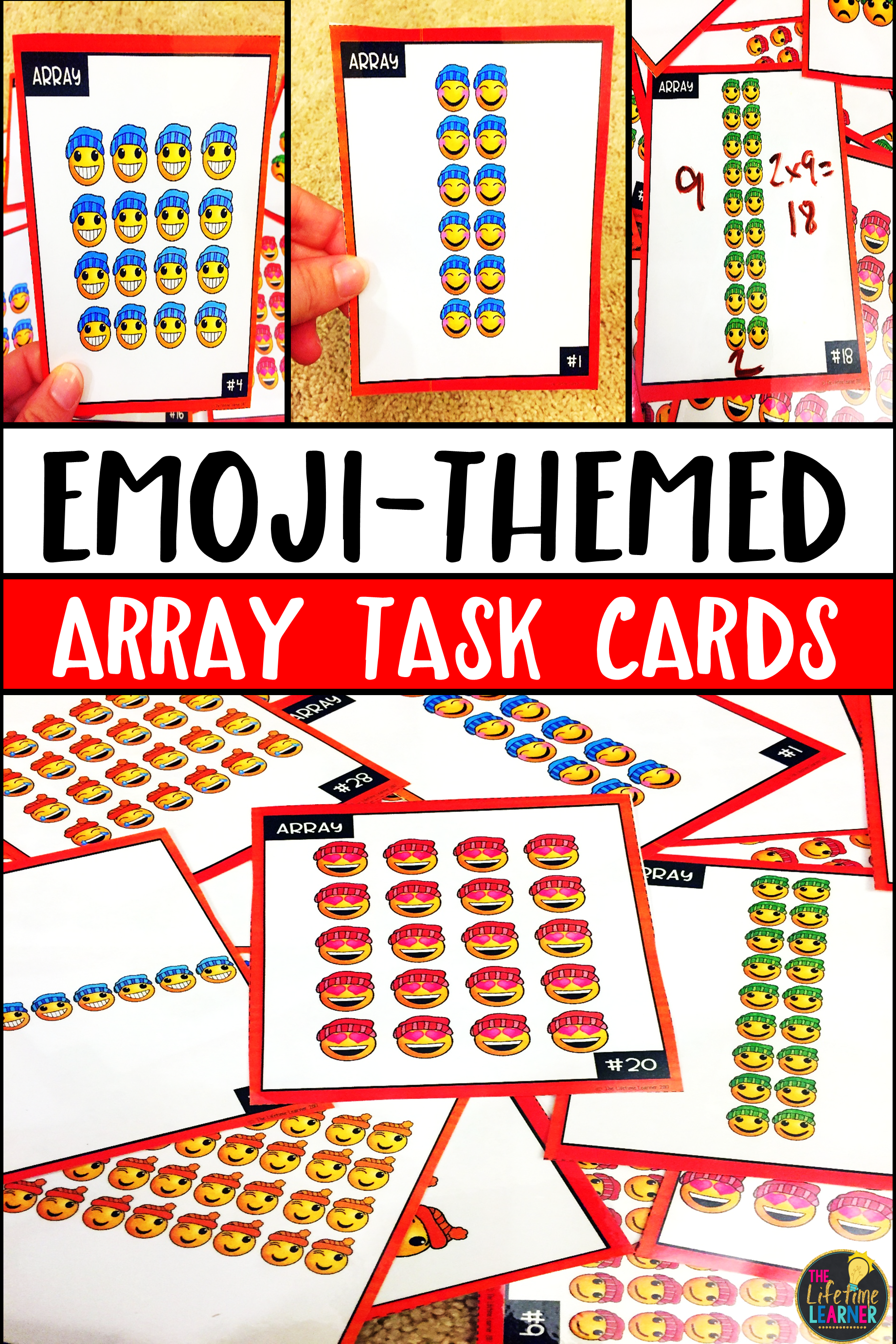 Emoji Multiplication Array Task Cards