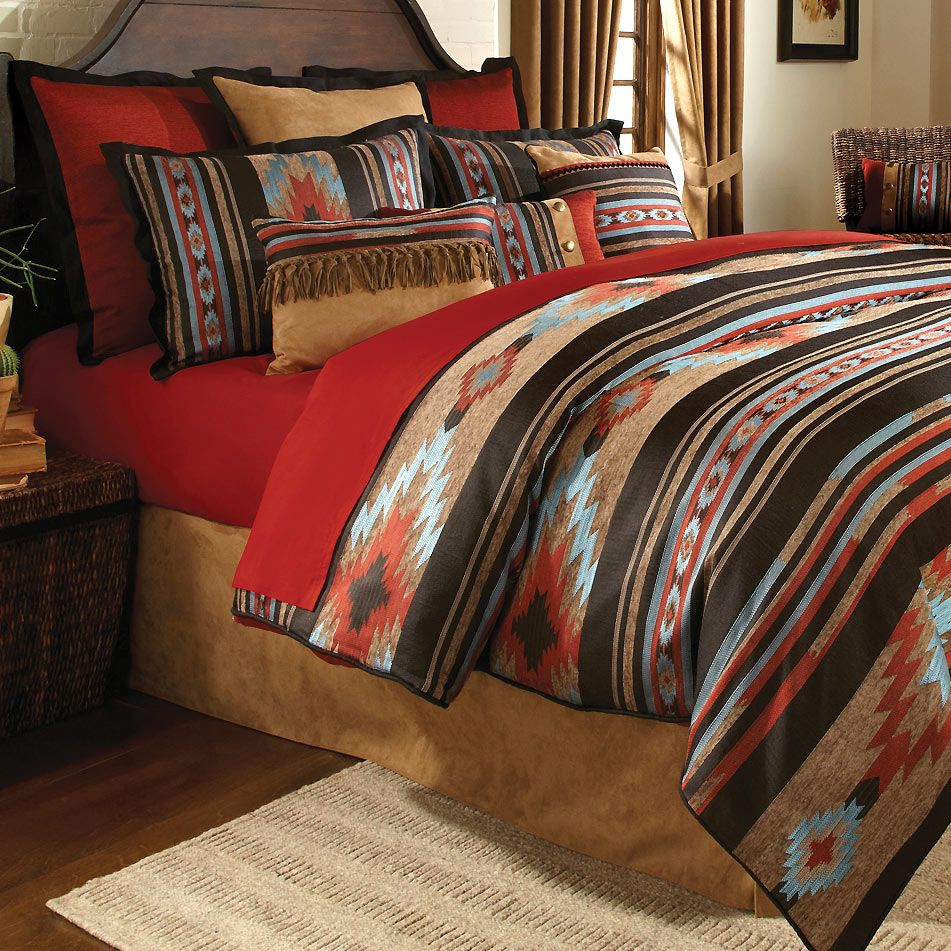 Red River Southwestern Bed Set Queen Southwestern