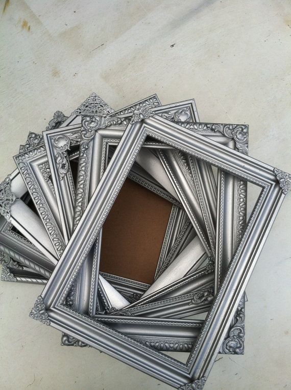 Silver Table Number Frames Wedding Frames Set of by ThePaintedLdy ...