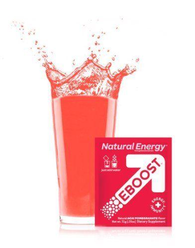 Eboost Acai Pomegranate Natural Energy Booster Box Of 20 Pkts Jillian Recommends