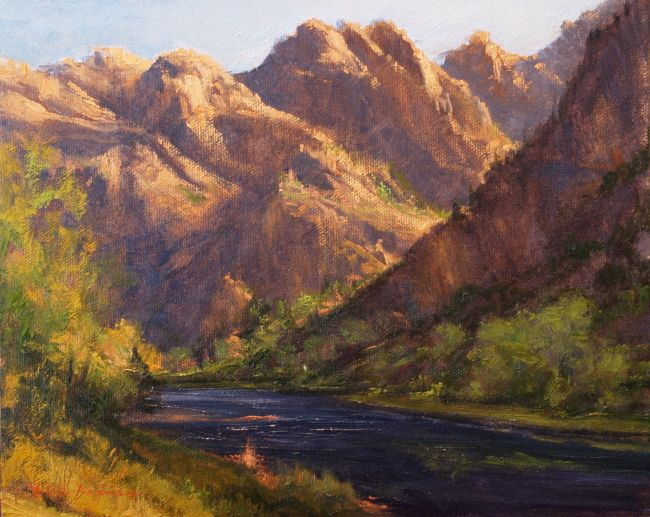 AVAILABLE I Morning Magic I 8x10 I Dix Baines I Fine Artist Original Oil Paintings I Mountains I www.dixbaines.com