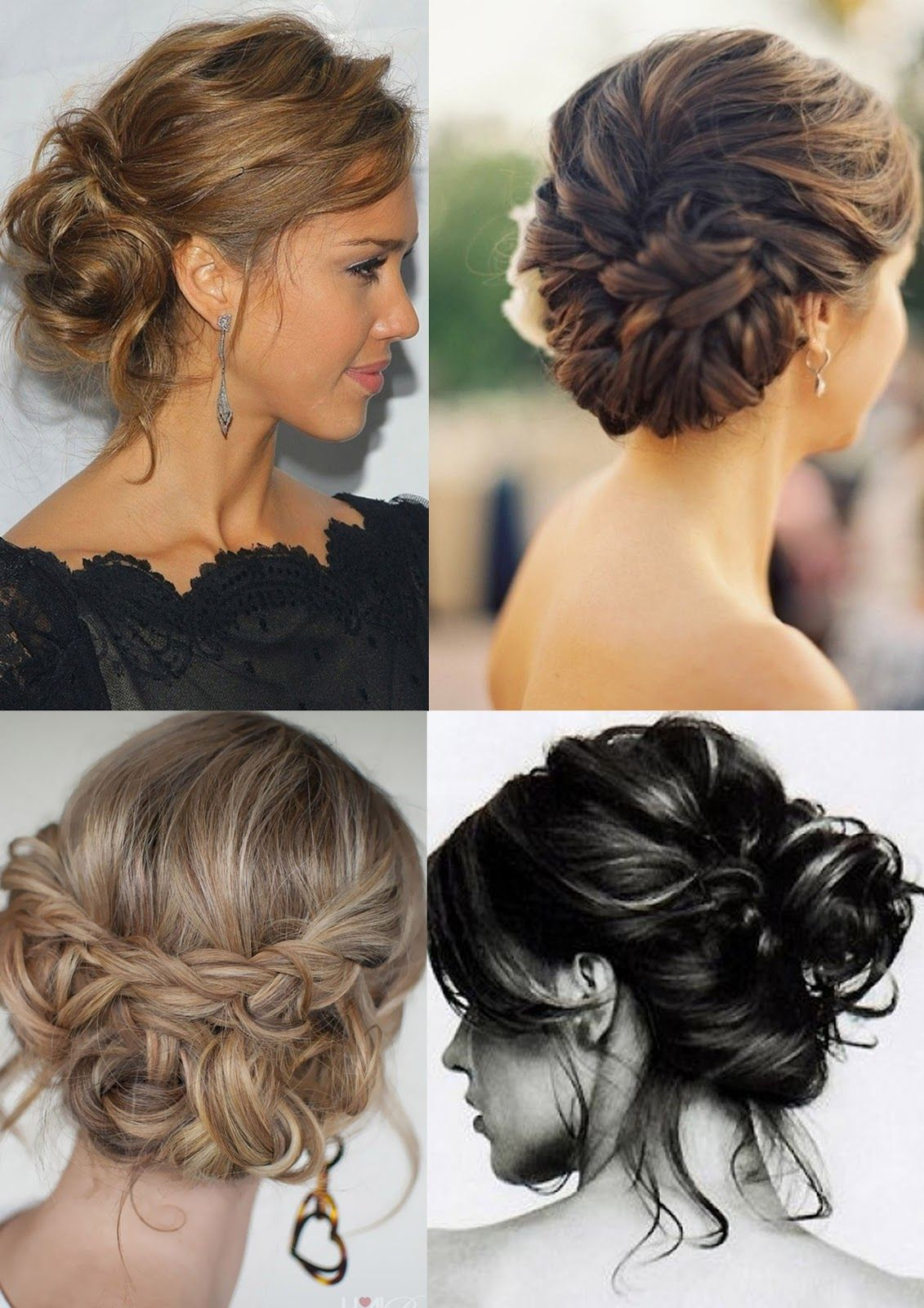 Twisted bun curls google search penteados para casamento
