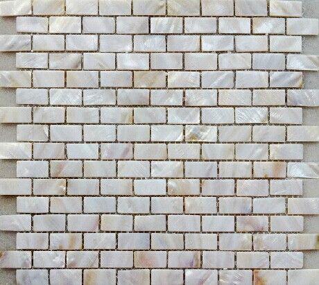 Günstige Perlmutt Perlweiß Fliese 15*30mm Backstein Muster Mosaik Fliesen  Für Küche Oder Bad Backsplash