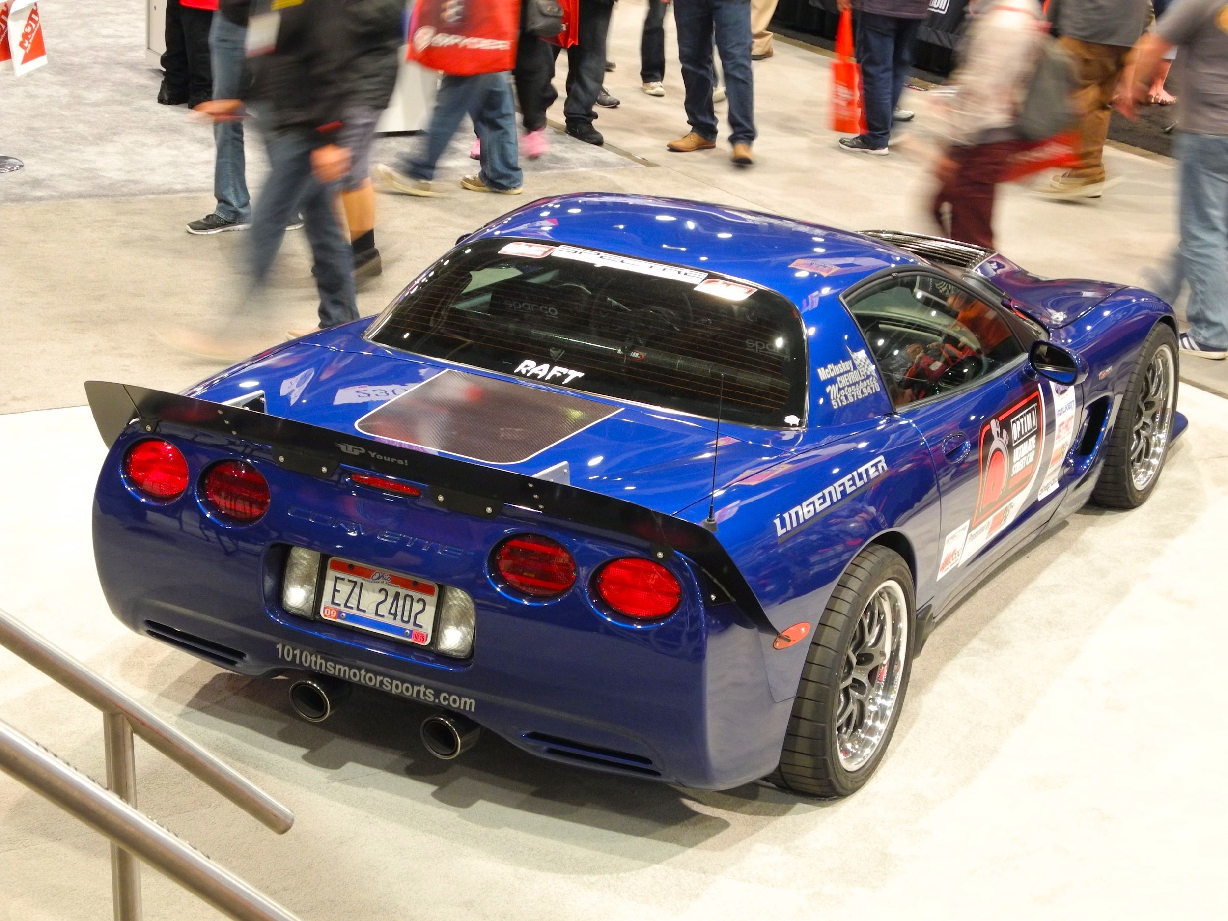 Danny Popp S Ousci Winning C5 Z06 At Champion S Corner In The Optima Batteries Booth At The 2015 Sema Show This Lingen Corvette Performance Racing Sema 2015
