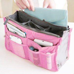 Nylon Handbag Insert Comestic Gadget Purse Organizer Pink This Is What My Mom Needs