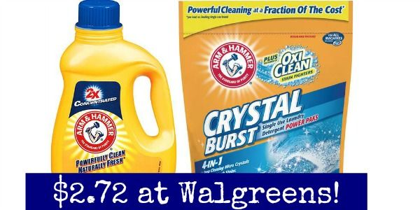 Walgreens Arm Hammer Laundry Detergent Only 0 99 Walgreens