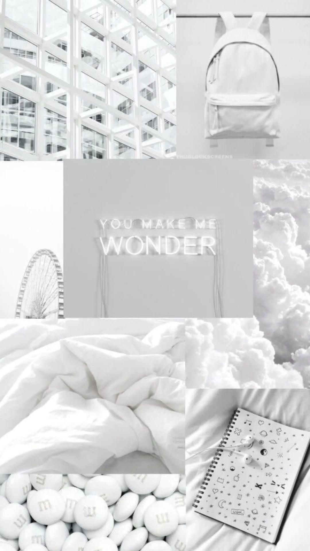 White Aesthetic Collages