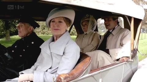Downton Place - En route to visit 'Downton Place' for a picnic. Isobel Crawley, Dowager Countess Grantham and Sir Anthony Strallan