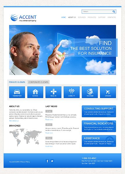 insurance responsive templates  Insurance Responsive Website Template | Templates | Pinterest ...