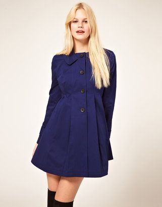 e0dcc208 ShopStyle: ASOS Pleated Swing Trench | Fall/Winter Clothes! <3 ...