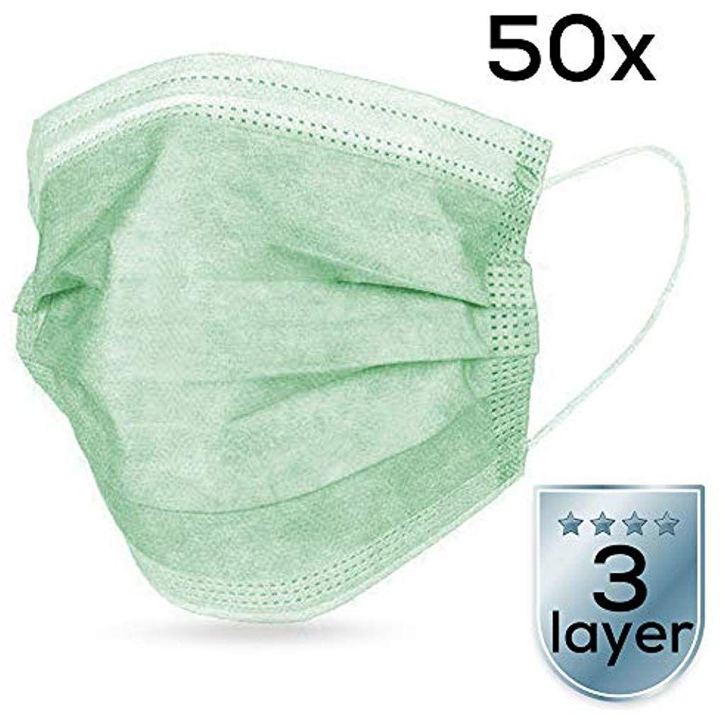 Atemschutzmasken 50 Stuck Medizinischer Mundschutz 3 Lagig Mit