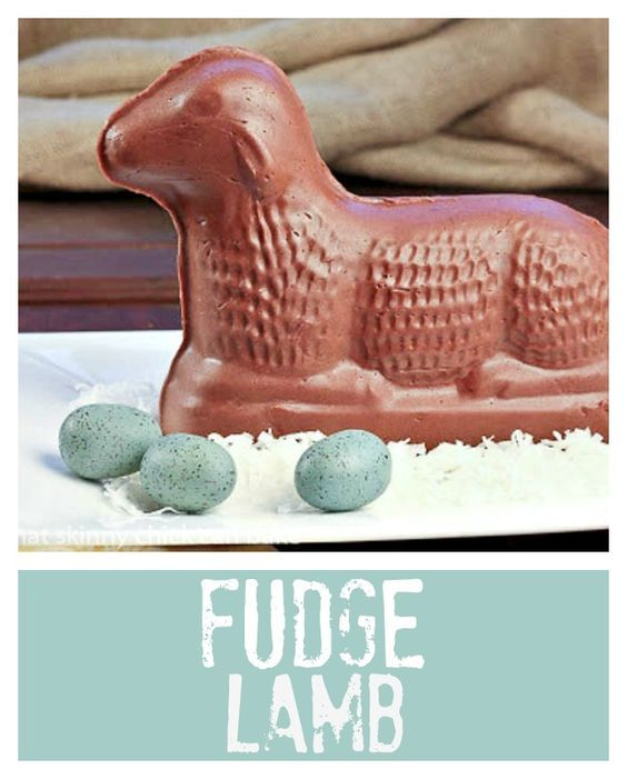 Fudge Lamb | An annual Easter dessert at our house! @lizzydo