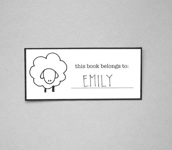 Wee Baa Name Plates  pack of 12 removable adhesive by sensationery, $6.00