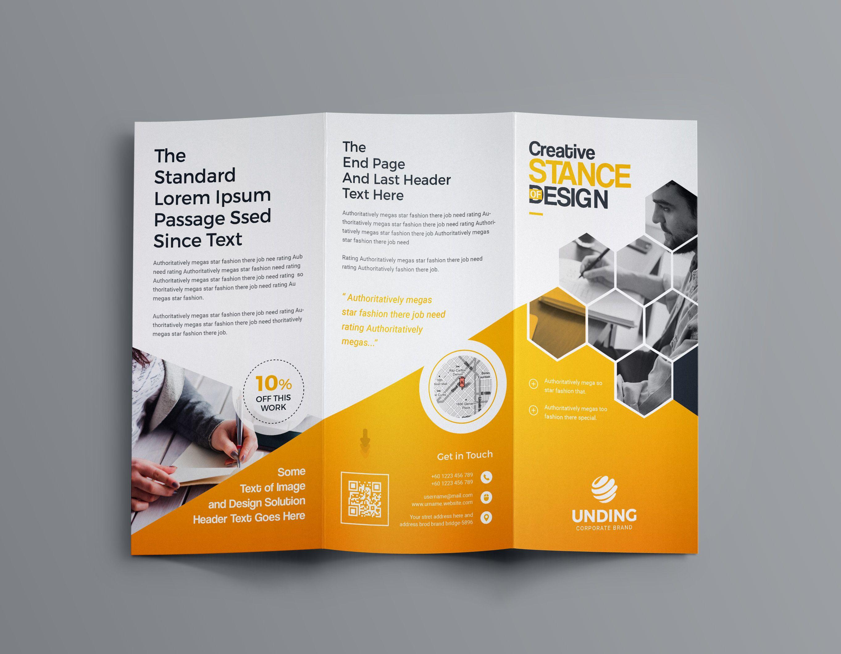 Aphrodite Business Tri Fold Brochure Template Brochure Design
