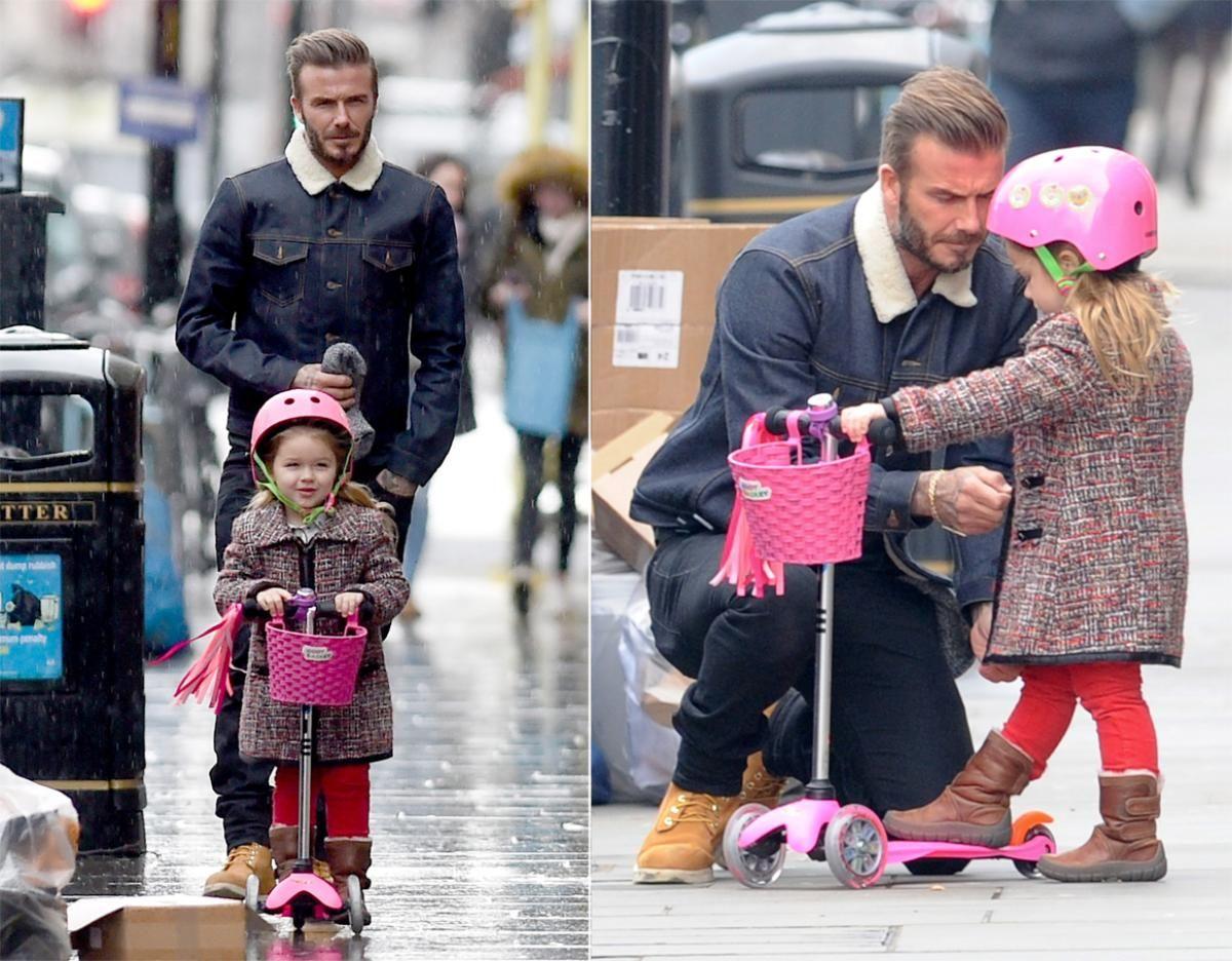 David Beckham and his daughter Harper - Cutest celebrity kids | Hijos de david beckham, Hijos de celebridades, Moda david beckham