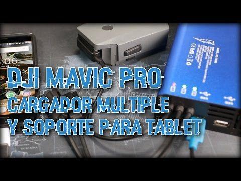Mavic Pro - Estación de carga rapida para baterias y Soporte para emisor...
