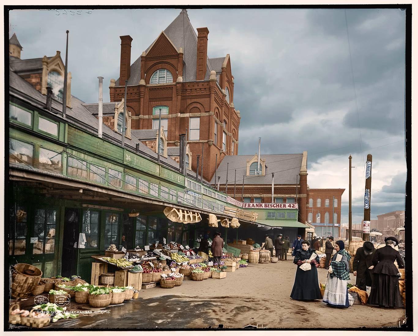 MO © 1906 Kansas City City market