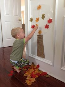 Easy Fall Tree Activity for Toddlers #falltrees