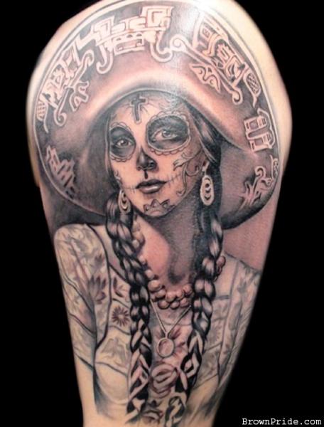 Tattoo Mexican Style Totenkopf