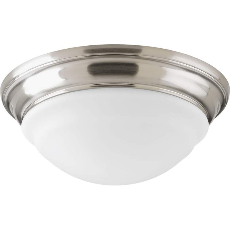 Progress Lighting P2300 Led Flush Mount Ceiling Fixture With Etched White Gl