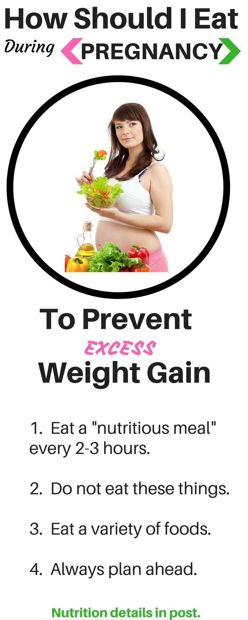 How to be healthy and not gaining weight during pregnancy