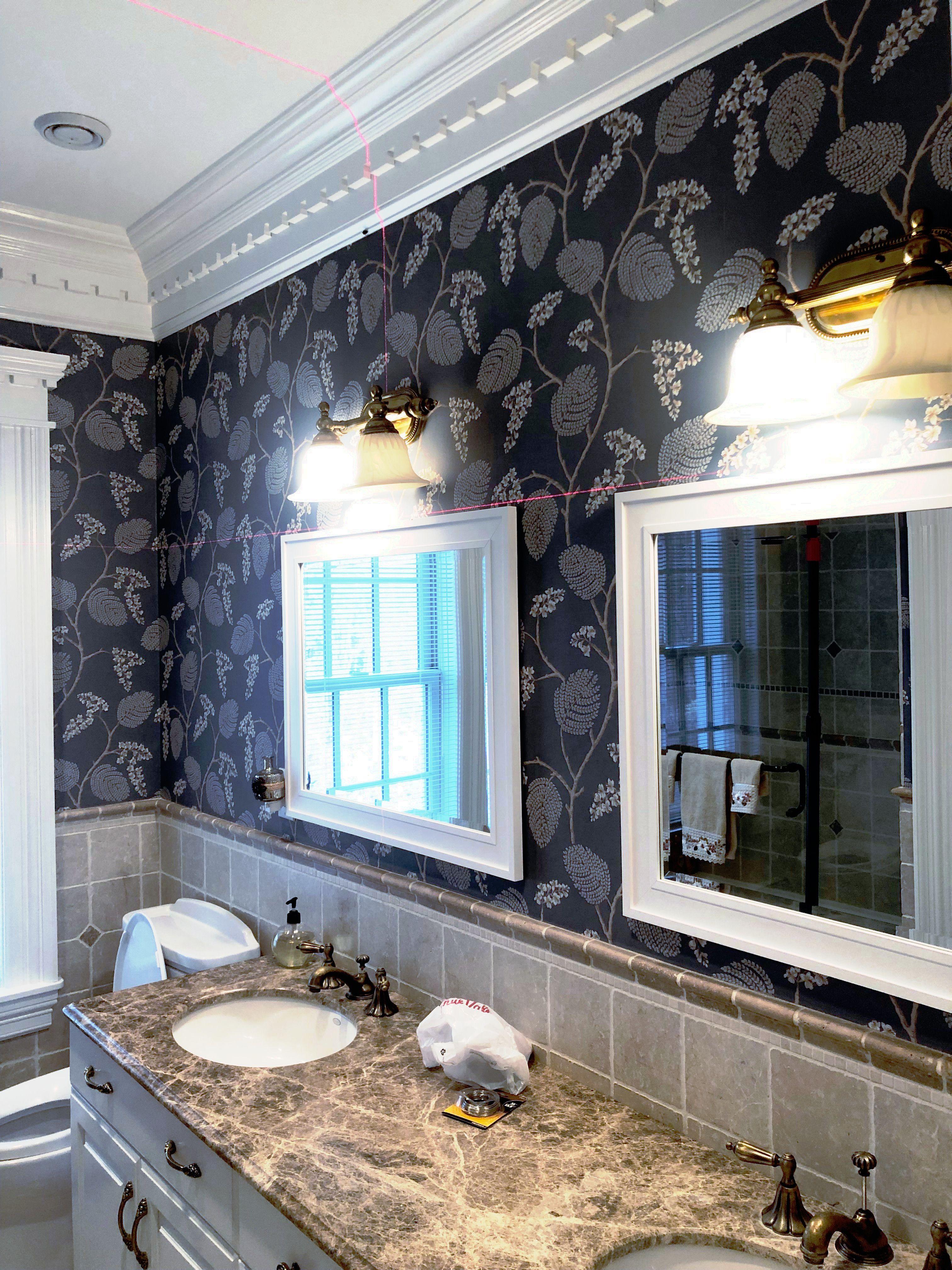 Bathroom Wallpaper How To Install Wallpaper Bathroom Wallpaper Bathroom Mirror